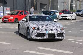 convertible toyota supra next gen bmw z4 spotted testing in munich along with supra