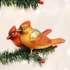 winter cardinals ornament world bird