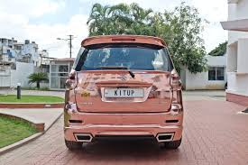 rose gold rolls royce custom maruti ertiga rear rose gold image indian autos blog