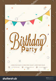Invitation Cards Birthday Party Birthday Party Celebration Invitation Card Greeting Stock Vector