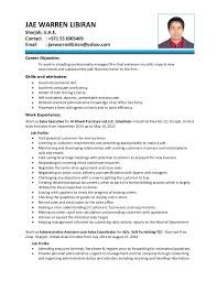 Sales Coordinator Sample Resume by Jae Cv 2015