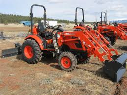 24hp compact tractor ck2510hst with loader rear blade plus