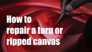 jeep painting canvas how to repair a torn or ripped canvas youtube