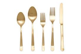 grace matt gold cutlery