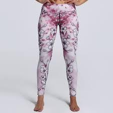 light purple leggings women s love spark light pink flower print womens yoga pants s to 3xl plus