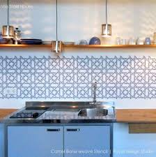 kitchen stencil ideas remodelaholic diy kitchen backsplash stencil throughout kitchen