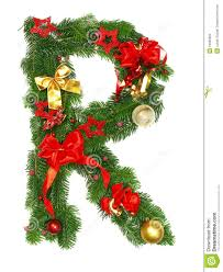 christmas alphabet letter r stock images image 16639964