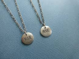 custom necklaces for couples reserved for custom order couples matching necklaces
