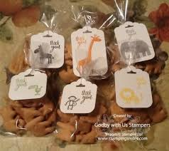 baby shower thank you gifts baby shower favor ideas with animal crackers