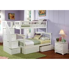 Columbia Bunk Bed Atlantic Furniture Ab5571 Columbia Staircase Bunk