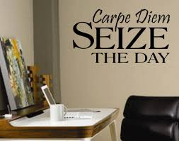 54 best occupational and office decor images on pinterest wall seize the day carpe diem office decal vinyl wall quotes