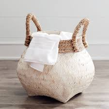 julianna white u0026 natural wicker basket pier 1 imports