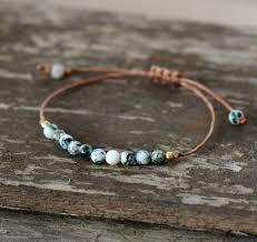 bracelet handmade jewelry images Boho bracelet handmade natural stone wax cord simple bracelet jpg
