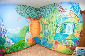 dessin mural chambre fille dessin mural chambre fille estein design
