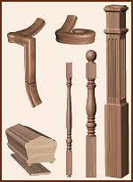 Stair Banister Parts Wood Staircases Wood Stair Parts Wood Stairs Wood Stair