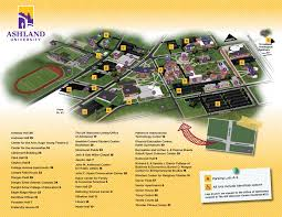 Ohio University Map by Main Campus Map Undergraduate Admissions Ashland University