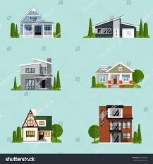 real estate set sale houses vector stock vector 679353673