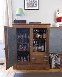 Home Bar Cabinet With Refrigerator - armoire made into a liquor cabinet for the home pinterest
