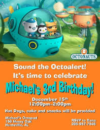 12 printed octonauts birthday invitations with envelopes four