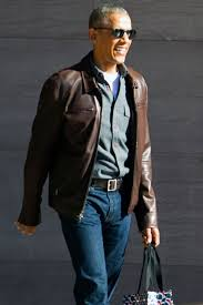 barack obama loves this leather jacket people com