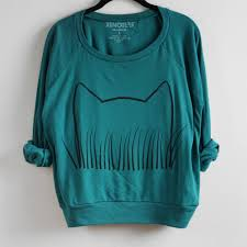 cat grass sweatshirt xenotees