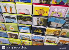 birthday cards for sale in an australian supermarket stock photo