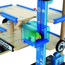 moderne houten speelgoedgarage met lift garage
