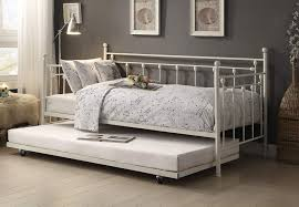 homelegance lorena metal daybed with trundle white 4965w nt