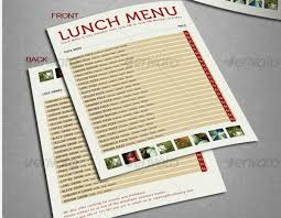 pages menu template 30 food menus templates for café and restaurants ginva