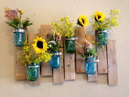 jar vase jar vase wood pallet wall project diy spoelma