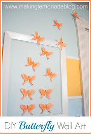 Nursery Diy Decor Diy Butterfly Wall Nursery Decor Lemonade