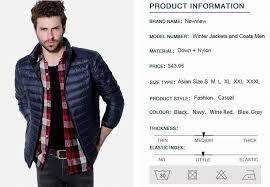 Plus Size Down Coats Mens Autumn Winter Duck Down Jacket Men Solid Breathable Jackets
