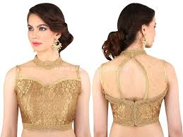 golden blouse a guide to get best gold blouse designs keep me stylish