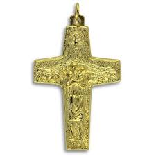 papal crucifix official gold color cross of pope francis 1 5 8 inch