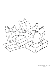 christmas presents coloring coloring pages
