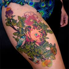 flower thigh tattoos for women pictures to pin on pinterest