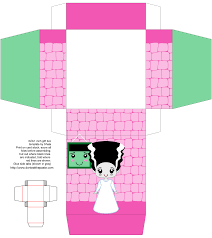 printable bride of frankenstein gift box my creations