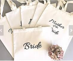 personalized wedding gift bags thank you bridesmaid tote bags personalized text chagne party