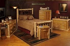 cedar log bed w metal wilderness scene a log furniture store