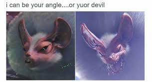 Bat Meme - fluffy bat are like these flying kirby monster hunter memes