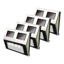 solar led deck step lights amazon com maxsa solar led deck step lights 4 pack stainless