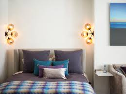 Unique Wall Sconces Designs Ideas Elegant Bedroom With Gray Bed And Small Floating