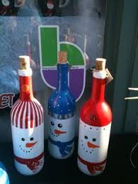 wine bottle christmas ideas 25 cool snowman crafts for christmas painted wine bottles