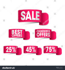 ribbons for sale set creative glossy ribbons sale discounts stock vector 459649507