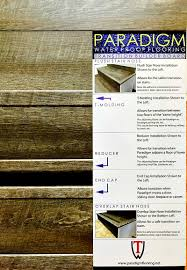 Installing Stair Nose On Laminate Flooring Paradigm Water Proof Flooring Transition Builder Board Flush Stair