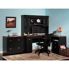 bush fairview l shaped computer desk hutch and lateral file set