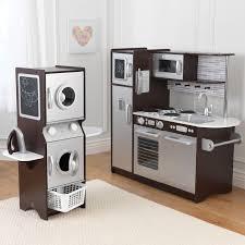 play kitchen ideas kidkraft espresso play kitchen laundry playset wooden
