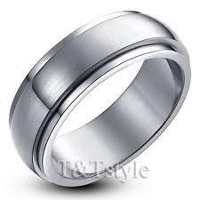 mens spinner rings stainless steel spinner rings for men ebay