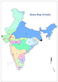Physical Map Of India by Basins