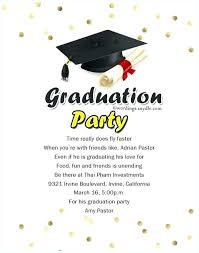grad party invitations graduation party invitation exle meichu2017 me